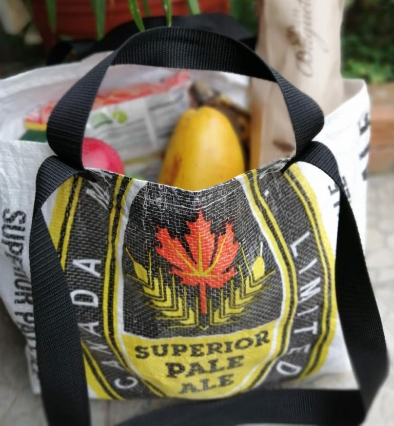 RECICLANDO I Bolsa para Compras hecha con Saco de Embalaje